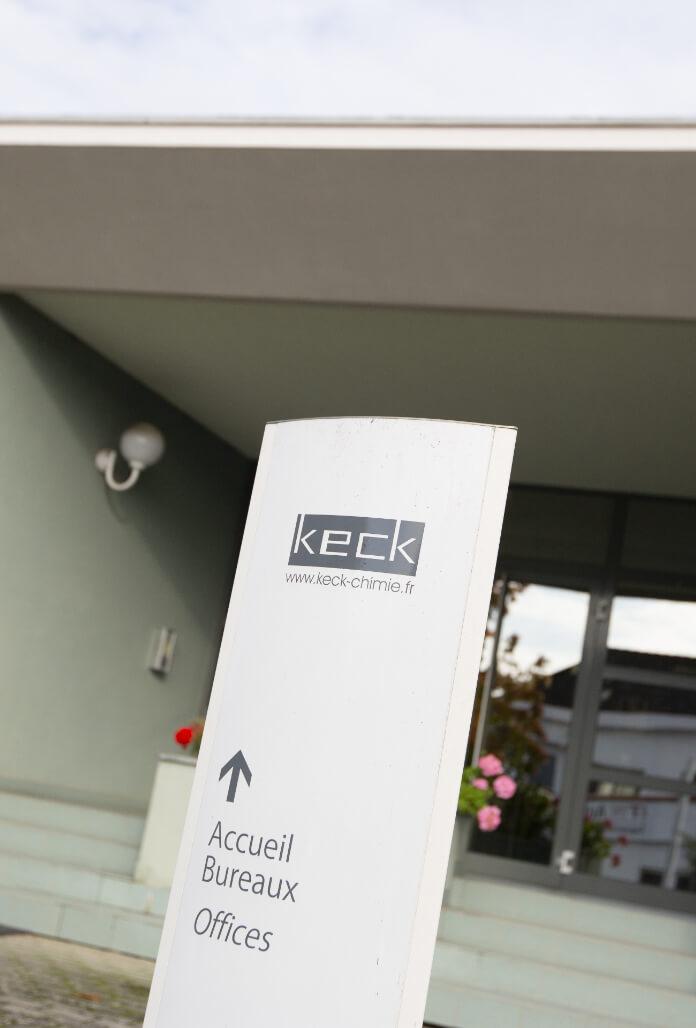 Panneau d'accueil de Keck Chimie